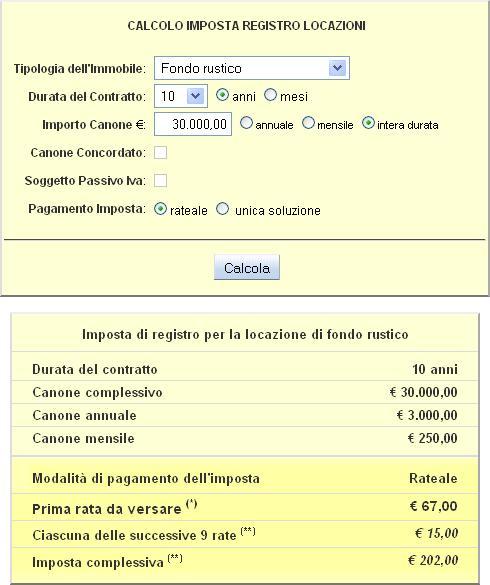 Calcolare la tassa di registro per contratti di locazione - Calcolo imposta di registro acquisto prima casa ...