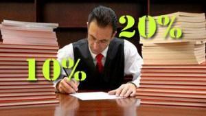Parcella avvocati: 'spese generali' tra il 10% e il 20%
